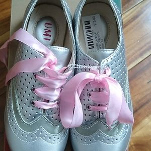Brand New silver lace up shoes